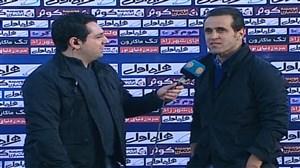 مصاحبه مجید جلالی و علی کریمی پس از بازی