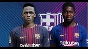 ساموئل اومتیتی و یری مینا خط دفاعی جدید بارسلونا