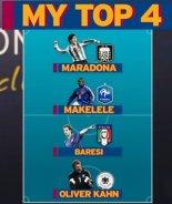چهار فوتبالیست افسانهی به انتخاب ماسکرانو