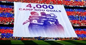 چهار هزارمین گل بارسلونا در ورزشگاه نیوکمپ توسط مسی