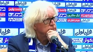 کنفرانس خبری بعد از بازی استقلال تهران و پارس جنوبی جم