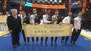 مراسم اهدای مدال به تیم ملی تکواندی ایران
