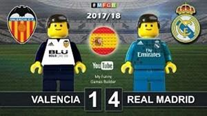 شبیه سازی بازی والنسیا - رئال مادرید با لگو