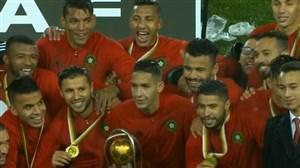 اهدای مدال و جام به تیم ملی مراکش قهرمان آفریقا