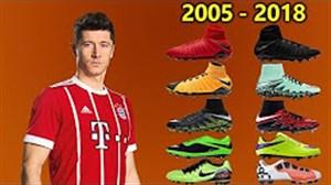 تمامی کفشهای لواندوفسکی از 2005 تا امروز