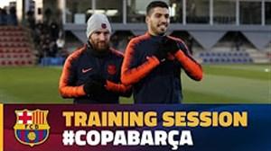 آخرین تمرین بارسلونا برای رویارویی با والنسیا(19-11-96)