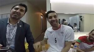 رختکن تیم ملی فوتسال پس از صعود به فینال آسیا