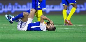 مدافع الهلال بازی با استقلال را از دست داد