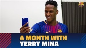 اولین ماه حضور یری مینا در باشگاه بارسلونا