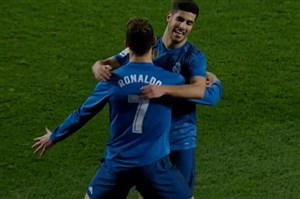 گل چهارم رئال مادرید به بتیس (کریستیانو رونالدو)