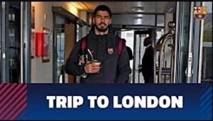 ورود بازیکنان بارسلونا به شهر لندن برای دیدار با چلسی