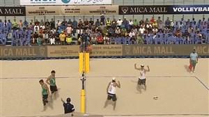 خلاصه والیبال ساحلی لهستان 2 - لیتوانی 0 (فینال تور جهانی والیبال ساحلی -کیش)
