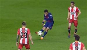 گل پنجم بارسلونا به خیرونا (سوپر گل کوتینیو)
