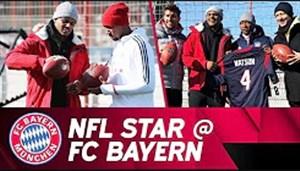 دیدار ستاره راگبی با بازیکنان بایرن مونیخ