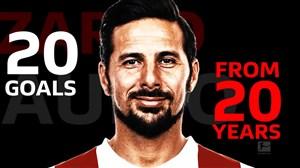 20 گل کلودیو پیزارو از 20 سال بازی