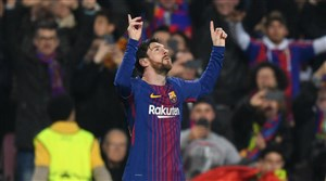گل دوم بارسلونا به بیلبائو (مسی)