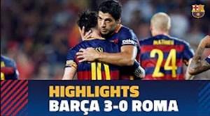 سال 2015 بازی خاطره انگیز بارسلونا - آ اس رم