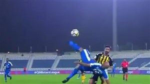 گل آکروباتیک دیدنی رشید تایبر در لیگ قطر