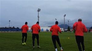 تمرین تونسی ها قبل از بازی ایران