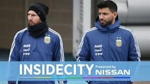 حضور مسی در تمرینات تیم منچستر سیتی
