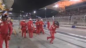 اتفاق تلخ و زیر گرفتن پای مکانیک توسط کیمی رایکونن در مسابقات بحرین
