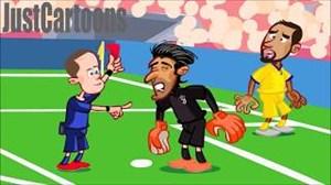 انیمیشن جالب از حواشی بازی رئال مادرید-یوونتوس