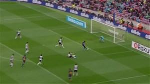 گل اول بارسلونا به والنسیا (سوارز)