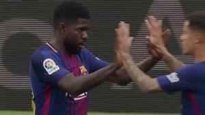 گل دوم بارسلونا به والنسیا (اومتیتی)