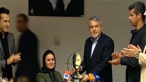 اهدای جایزه برترین کماندار سال 2017 به خانم زهرا نعمتی