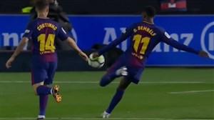 گل اول بارسلونا به سلتاویگو (دمبله)