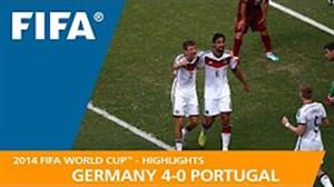 مرور جام جهانی 2014 - ( آلمان 4 - پرتغال 0 )