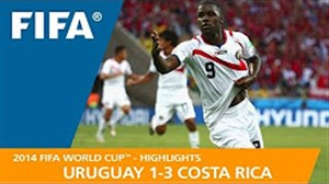 مرور جام جهانی 2014 - ( اروگوئه 1 - کاستاریکا 3 )