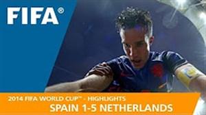 مرور جام جهانی 2014 - ( اسپانیا 1 - هلند 5 )