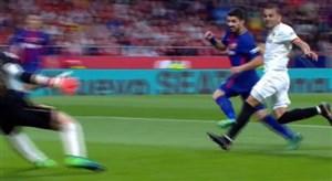گل سوم بارسلونا به سویا ( لوئیس سوارز )