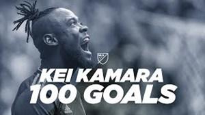 به مناسبت 100 گل شدن کی کامارا در MLS