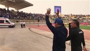 دیدار مهدی قائدی با هواداران پیش از فینال جام حذفی