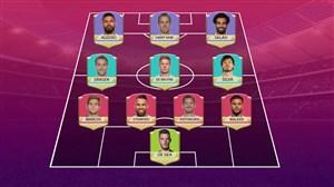 تیم منتخب از برترین بازیکنان لیگ برتر جزیره فصل 18-2017