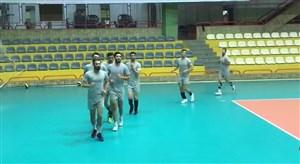 تمرین تیمملی والیبال در جهت اماده سازی مسابقات لیگ جهانی