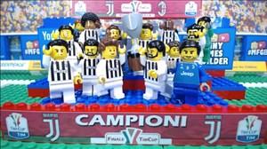 بازسازی فینال جام حذفی ایتالیا با لگو