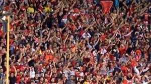 شادی بازیکنان و هواداران پرسپولیس پس از صعود