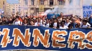 شور و اشتیاق هواداران مارسی و اتلتیکو مادرید قبل از شروع دیدار