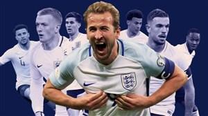 معرفی فهرست نهایی انگلیس برای جام جهانی 2018 روسیه