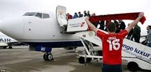هواداران لیورپول در راه سفر به کیف