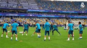 تمرینات آماده سازی بازیکنان رئال مادرید برای فینال کیف