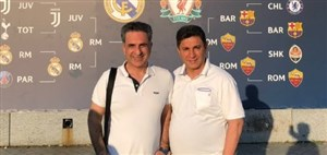 حضور امیرقلعه نویی و رسول خطیبی در فینال لیگ قهرمانان