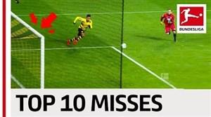 10 موقعیت برتر از دست رفته بوندسلیگا در فصل 18-2017