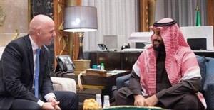 بن سلمان و دیدار دروغین  با رییس فیفا! (گزارش)