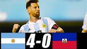 خلاصه بازی آرژانتین 4 - هائیتی 0 (هتریک مسی)