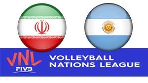 خلاصه والیبال آرژانتین 2 - ایران 3 (لیگ ملتها)