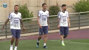 تمرینات امروز تیم ملی آرژانتین (12-03-97)